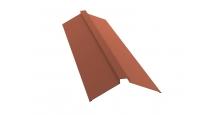 Коньки для кровли из металлочерепицы в Муроме Планка конька плоского 115х30х115