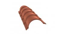Коньки для кровли из металлочерепицы в Муроме Планка конька полукруглого