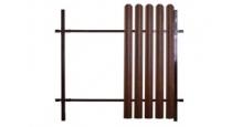 Модульные ограждения из профнастила в цвете RAL 8017 шоколад Grand Line в Муроме Подсистема Colority Zinc
